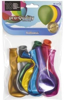 Globos Metalizados Surtidos 86 cm. Pro-Quality, 10 uds.