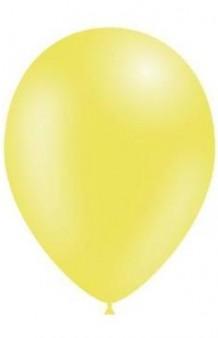Globos Amarillo Limón Metalizados 86 cm., 50 uds.