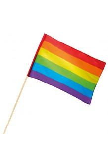 Bandera Multicolor Arcoiris, 48 x 30 cm.
