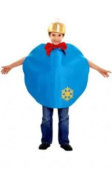 Disfraz Bola Navidad Azul