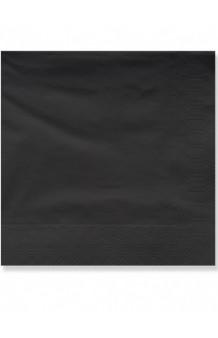 Servilletas Negras 40 x 40 cm., 50 uds.