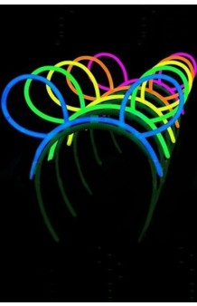 Diadema + 3 Sticks Luminiscentes