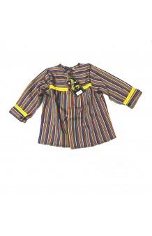 Blusón Fallero Raya Multicolor Cenefa Amarilla Infantil