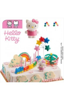 Kit Hello Kitty Carrusel Decoración Tartas
