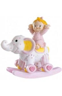 Figura Niña Balancín Elefante