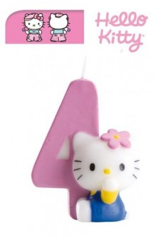 Vela Hello Kitty Nº 4. AGOTADO.