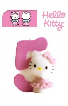 Vela Hello Kitty Nº 5. AGOTADO.