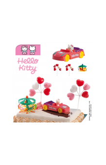 Kit Hello Kitty Coche Decoración Tartas