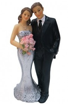Figura Matrimonio Bodas de Plata, 15 cm.