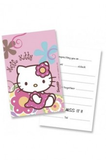 Invitaciones Hello Kitty, 6 uds.