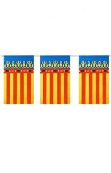 Guirnalda Banderas Valencia Tela, 560 cm.