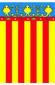 Bandera Valencia Tela, 90 x 60 cm.