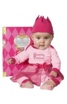 Disfraz/Pijama Princesa Rosa Durmiente 3-6 meses + CD musical (Versión Deluxe Libro)