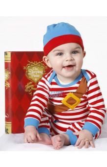 Disfraz/Pijama Pirata Durmiente 6-12 meses + CD musical (Versión Deluxe Libro)