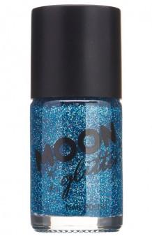 Pintauñas Azul Glitter Holográfico