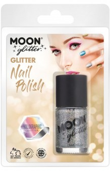 Pintauñas Plata Glitter Holográfico