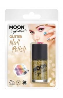 Pintauñas Dorado Glitter Holográfico