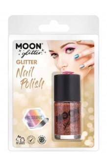 Pintauñas Oro Rosa Glitter Holográfico