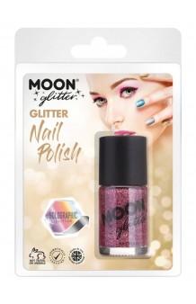 Pintauñas Rosa Glitter Holográfico