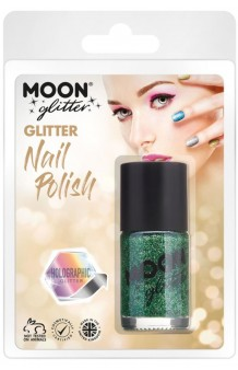 Pintauñas Verde Glitter Holográfico