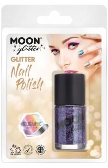 Pintauñas Morado Glitter Holográfico