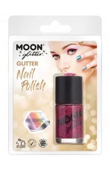 Pintauñas Fucsia Glitter Holográfico