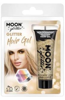 Gel Cabello Oro Glitter Holográfico