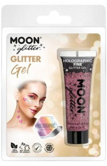 Tubo Gel Glitter Rosa Holográfico