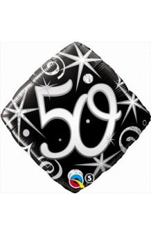 """Globo """"50"""" Ellegance Negro, 46 cm."""