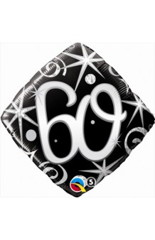 """Globo """"60"""" Ellegance Negro, 46 cm."""