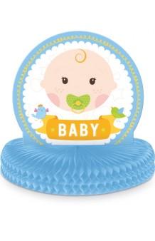 Centro de Mesa Azul Babyshower