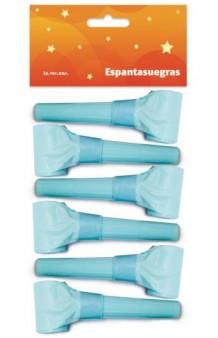Kit 6 Espantasuegras Azul Celeste