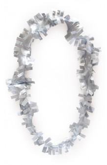 Collar Plateado Plástico