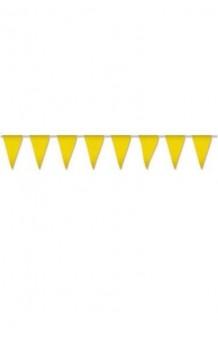 Banderines Amarillos Plástico, 5 m.