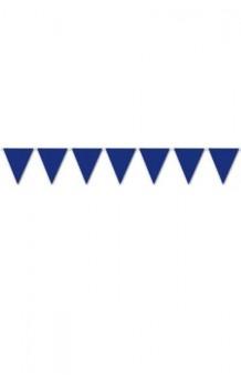 Banderines Azules Plástico, 5 m.