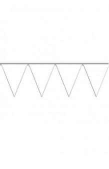 Banderines Blancos Plástico, 5 m.