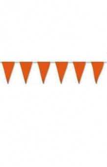 Banderines Naranjas Plástico, 5 m.