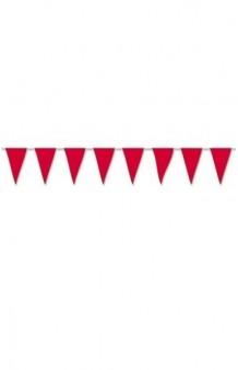 Banderines Rojos Plástico, 5 m.