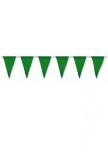 Banderines Verdes Plástico, 5 m.