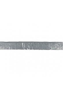 Fleco Plateado Plástico, 25 m.