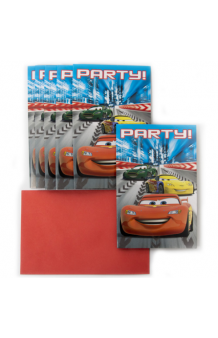 Invitaciones Cars, 6 uds.