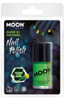 Pintauñas Verde Brillo Oscuridad