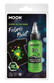 Bote Pintura Textil Verde Brillo Oscuridad (Efecto 3D)