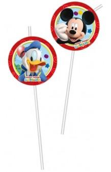 Pajitas Mickey Mouse, 6 uds.