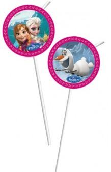 Pajitas Frozen, 6 uds.