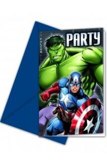 Invitaciones Vengadores, 6 uds.
