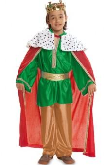 Disfraz Rey Mago Verde Baby