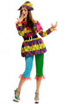 Disfraz Arlequina Colores