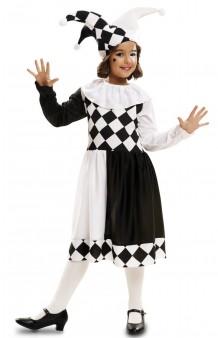 Disfraz Arlequina Blanco & Negro