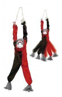 Colgante Payaso Rojo/Negro, 88 cm. (con Luz, Sonido y Movimiento)